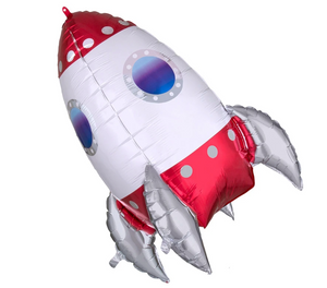 Rocket Ship Foil Jumbo Balloon