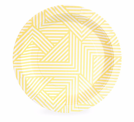 Hello Yellow Dessert Party Plate - Bickiboo Party Supplies