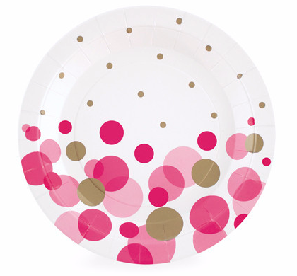 Pink So Hot Dessert Party Plate - Bickiboo Party Supplies