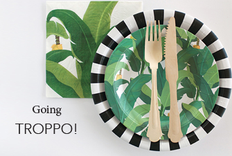 Troppo Leaf Dessert Party Plate - Bickiboo Designs