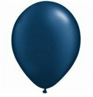 Pearl Midnight Blue Mini Balloons - 12cm (5 pack) - Bickiboo Designs