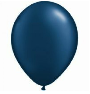 Pearl Midnight Blue Mini Balloons - 12cm (5 pack)
