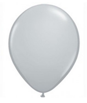 Fashion Grey Mini Balloons - 12cm (5 pack)
