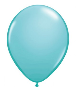 Fashion Caribbean Blue Mini Balloons - 12cm (5 pack) - Bickiboo Designs