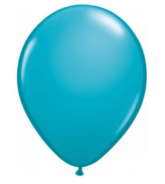 Fashion Tropical Teal Mini Balloons - 12cm (5 pack) - Bickiboo Designs