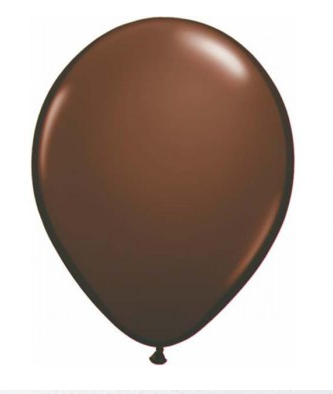 Chocolate Brown Mini Balloons - 12cm (5 pack)