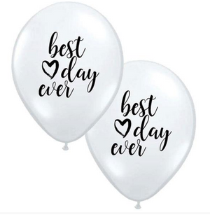 Best Day Ever 28cm Balloons  (5pack) - Bickiboo Designs