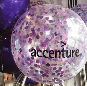 Personalised Giant 90cm Confetti Balloon