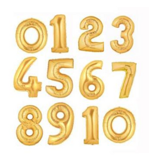 Gold 86cm Helium Filled Foil Balloons - Bickiboo Designs