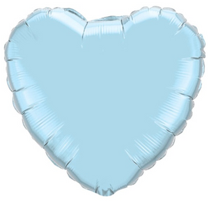 Pastel Blue Foil Giant 90cm Heart Balloon - Bickiboo Designs