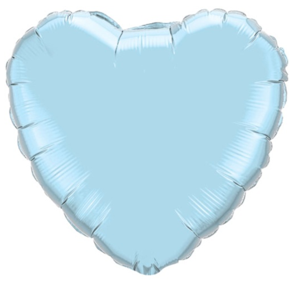 Pastel Blue Foil Giant 90cm Heart Balloon