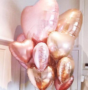 Rose Gold Foil Giant 90cm Heart Balloon - Bickiboo Designs