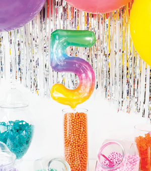 Jelly Number Balloon 41cm - Bickiboo Designs