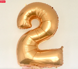 Antique Gold 100cm number Foil Balloons - Bickiboo Designs