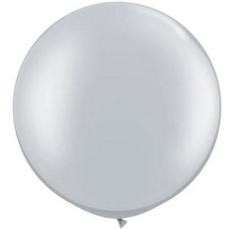 Giant Silver Metallic Balloon - 90cm - Bickiboo Party Supplies