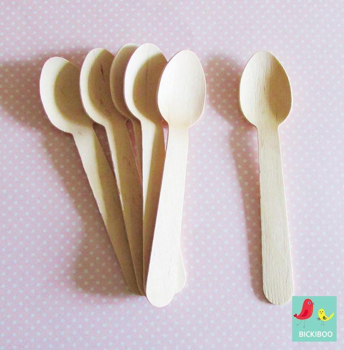 Paper Eskimo Wooden Cutlery Spoons - Bickiboo Party Supplies