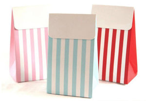 Sambellina Party Bags - Blue Stripe - Bickiboo Party Supplies