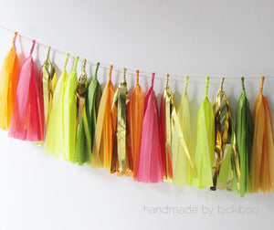 Tissue Paper Tassel Garland - Summer Fruits
