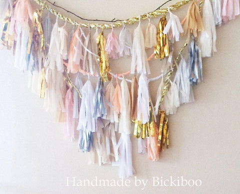Custom Tassel Garland Wall Backdrop - Bickiboo Party Supplies