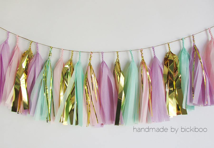 Tissue Paper Tassel Garland - Fairy Princess - Bickiboo Designs