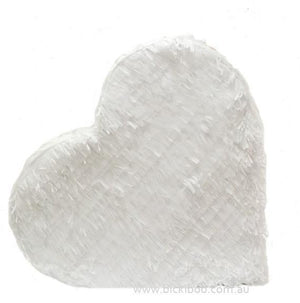 White Fringed Heart Piñata - Bickiboo Designs