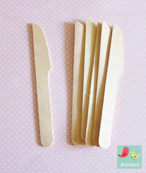 Paper Eskimo Wooden Cutlery Knives - Bickiboo Designs