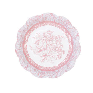 Party Porcelain Rose Small Plates -12pk