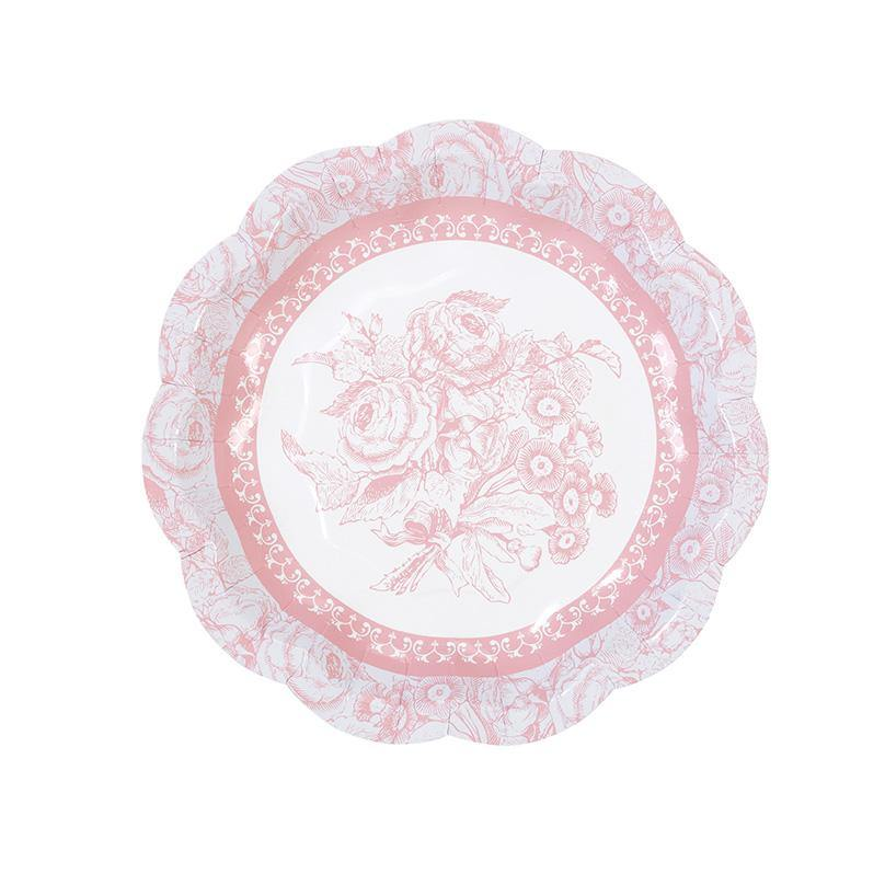 Party Porcelain Rose Small Plates -12pk - Bickiboo Designs