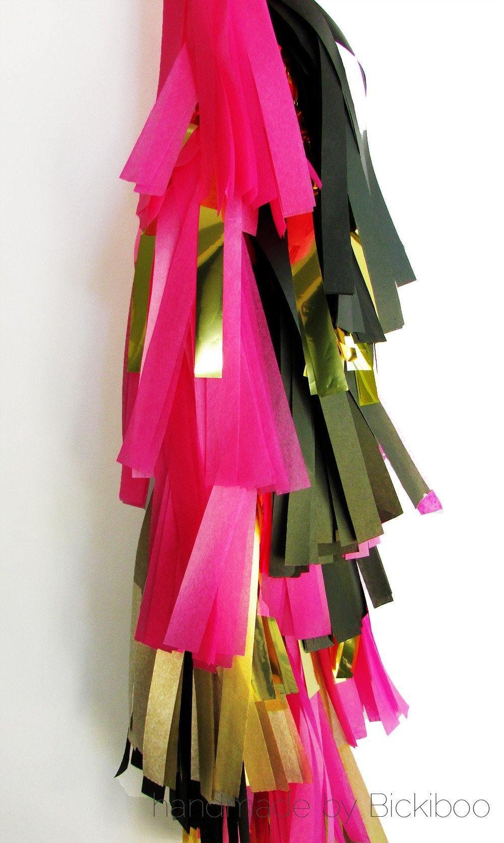 Tissue paper tassel garland request a custom order for Arland decoration
