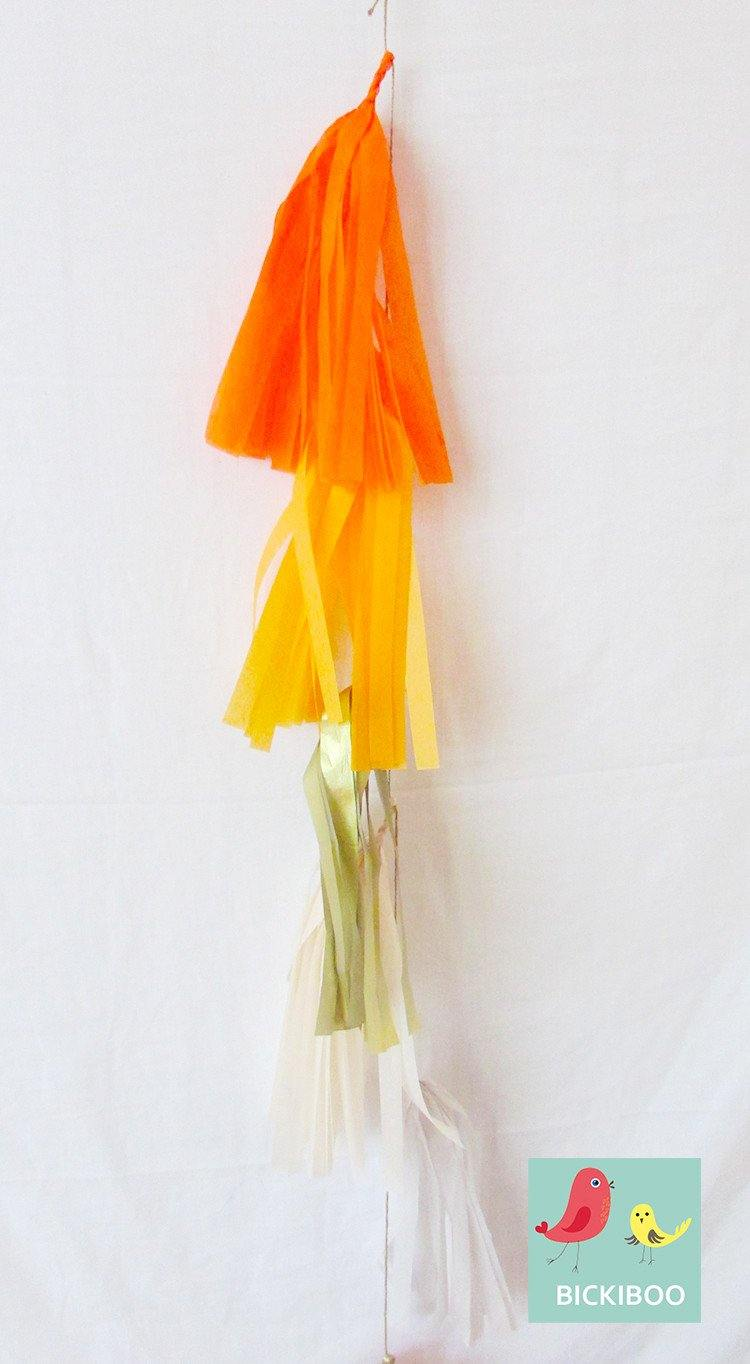 Petite Balloon Tassel Tail - Autumn - Bickiboo Party Supplies