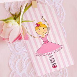 Ballerina Gift Tag - Bickiboo Party Supplies