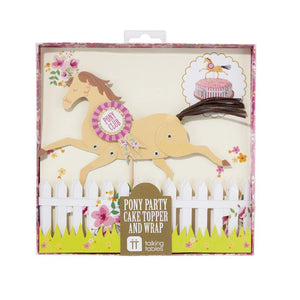 Pony Cake Topper and Wrap - Bickiboo Party Supplies