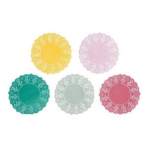 Floral Fiesta Doilies (100 Pack) - Bickiboo Party Supplies