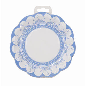 Party Porcelain Blue Vintage Tea Party Small Plates - Bickiboo Party Supplies