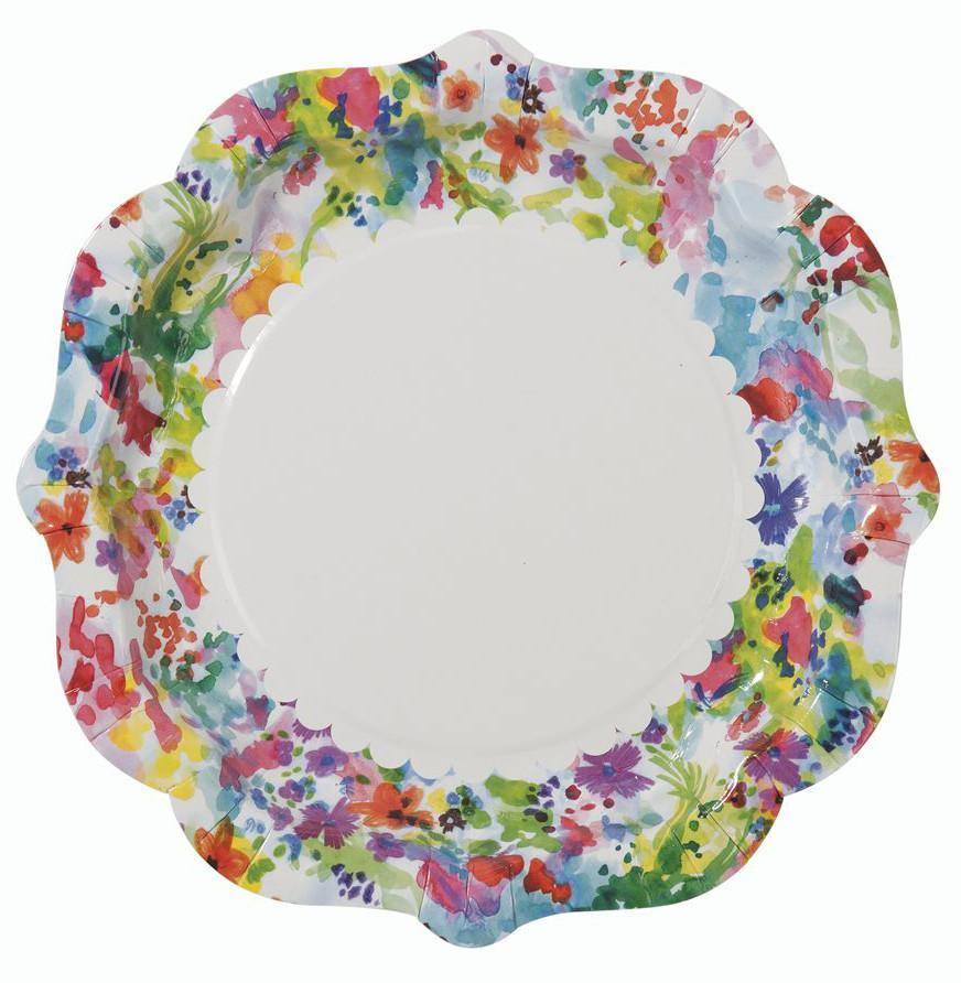Floral Fiesta Plates - Bickiboo Party Supplies