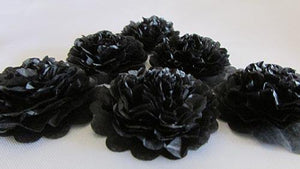 Black Button Mums Tissue Paper Flowers - Bickiboo Designs