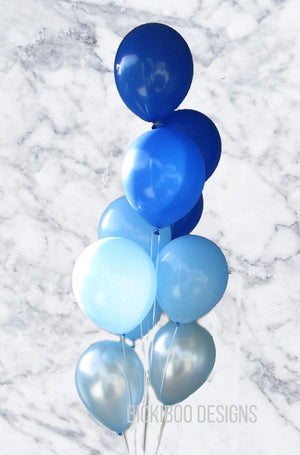Blue Balloons Bouquet - Bickiboo Designs