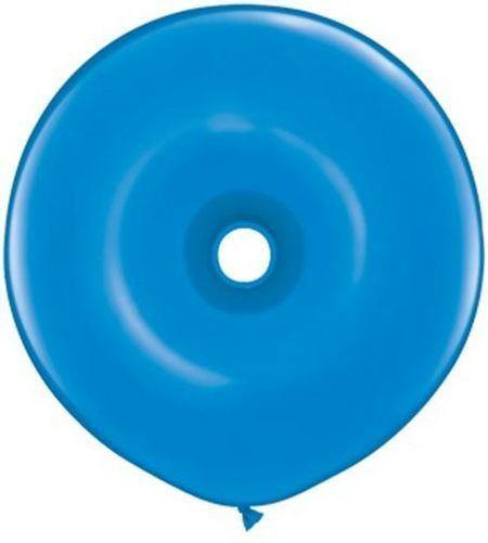 Blue Donut Shaped Balloon 40cm - Bickiboo Party Supplies