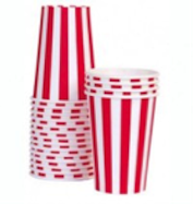 Red Stripe Party Cup - Bickiboo Party Supplies