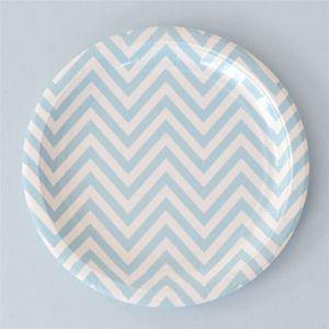 Chevron Blue Party Cup - Bickiboo Designs