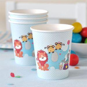 Circus Animals Party Cup - Bickiboo Party Supplies