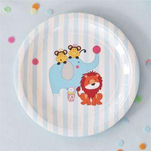 Circus Animals Dessert Party Plate - Bickiboo Party Supplies