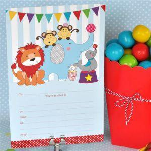 Circus Animals Party Invitation - Bickiboo Designs