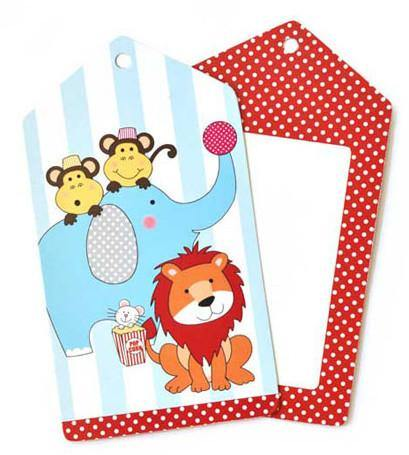 Circus Animals Gift Tag