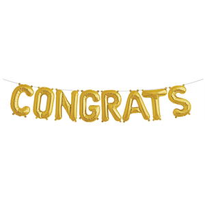 Gold 'CONGRATS' Balloon Kit