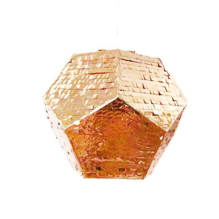 Geometric Copper Piñata