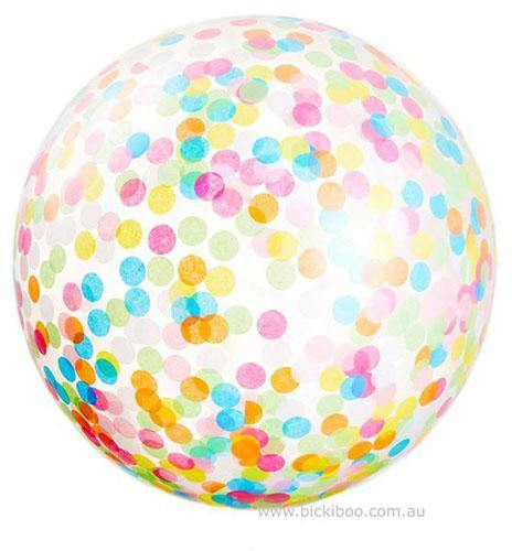Jumbo Helium Filled  Confetti Balloon - custom colours