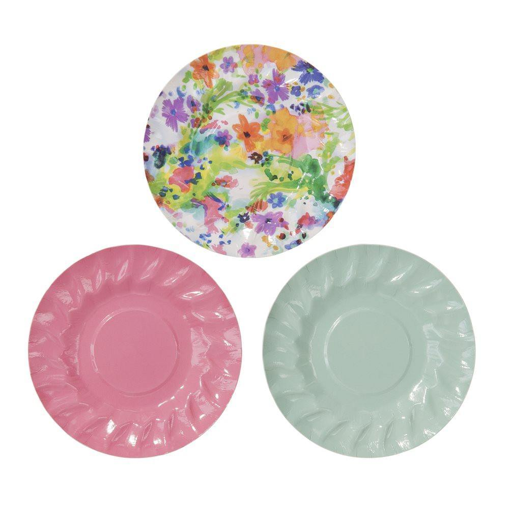 Floral Fiesta Mini Canape Plates - Bickiboo Party Supplies