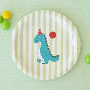 Dinosaur Dessert Party Plate - Bickiboo Party Supplies