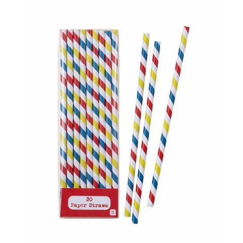 Mix & Match Straw Multi 30pk - Bickiboo Party Supplies